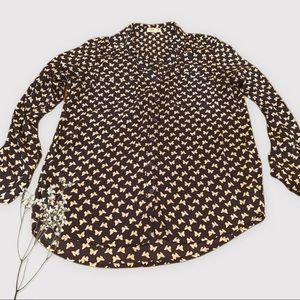 Express Portafino Shirt Size L - Navy Butterflies